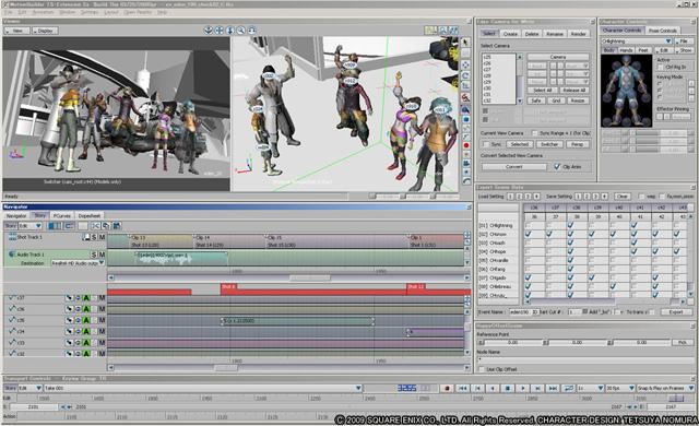 Final Fantasy XIII in Motionbuilder